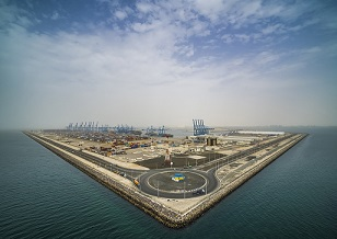 Khalifa Port aerial view - sm